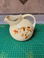 Hall's Superior Quality Mary Dunbar Jewel Tea Autumn Leaf Ball Pitcher 7 1/2""