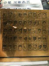 1963 Topps Bazooka All Time Greats Babe Ruth Gehrig Uncut Proof Sheet Vault Coa
