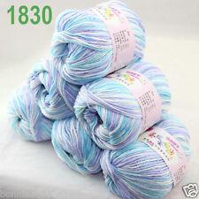 6 BallsX 50gr DK Baby Soft Cashmere Silk Wool Hand Knitting Crochet Yarn 30