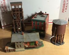 HO SCALE FALLER TYCO 4 CLASSIC RAILROAD STRUCTURES COAL TOWER WATER TANK ETC