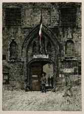 MALINES MECHELN - PAß AMT - Luigi KASIMIR 1915 OriginalLithographie