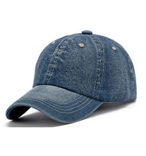 Classic Plain Denim Baseball Cap Adjustable Low Profile Breathable Duckbill Hat