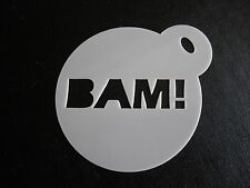 Laser cut small bam! design cake, cookie,craft & face painting stencil