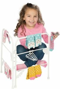Casdon Toy Ironing Set Kids Toy Little Adult Play Drying Rack Laundry Washing