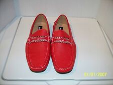 Masimo Men Size 11 Driving Loafer slip-on Red Leather 1248-14