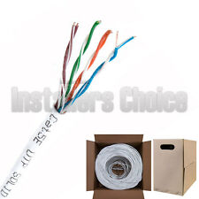 1000FT CAT5e CMR Ethernet UTP Cable White SOLID BARE COPPER 24 AWG
