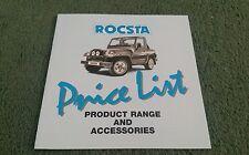 ASIA MOTORS ROCSTA PRICE LIST March 1994 UK BROCHURE 1.8 2.2 DIESEL &ACCESSORIES