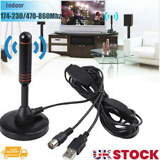 More details for uk best portable tv antenna indoor outdoor digital hd freeview aerial ariel