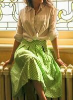 Rare Lindy Bop Daniella Green Gingham Summer Vintage Skirt Size 20 Plus size