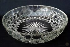 Crystal Cut Glass Bowl In Hobnail And Star Cut Design 25cm | FREE Delivery UK*