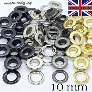 10mm Eyelets with Washers Grommets DIY Leather Craft Bags Pack of 10