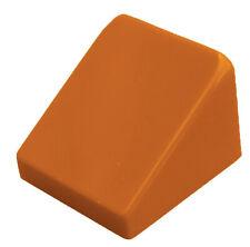 Lego 10x Tuiles en Béton En Foncé Orange 30 1 x1x 2/3 Bloc Incliné Tuiles 54200