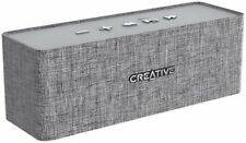Creative NUNO Gray Portable Bluetooth Speaker Music Anytime Audio 3.5mm Output