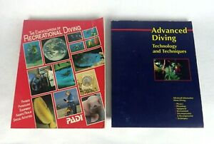The Encyclopedia Of Recreational Diving & Advanced Diving Manual Paperback Lot 2