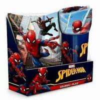 Coffret Coussin avec plaid Spiderman Couverture polaire : L 150 x l 100 cm