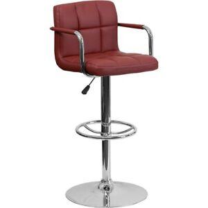 Flash Furniture Burgundy Contemporary Barstool, Burgundy - CH-102029-BURG-GG