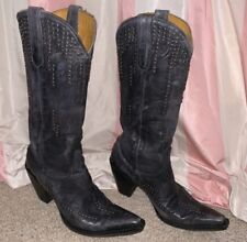 Old Gringo Dark Grey Studded Tall Boots