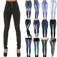 Womens High Waisted Skinny Jeans Denim Pants Slim Fit Stretch Jeggings Trousers