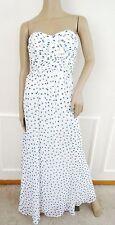 Nwt Lauren Ralph Lauren Strapless Ruched Evening Prom Long Dress Sz 2 Ivory Dot