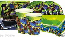 TEENAGE MUTANT NINJA TURTLES PARTY KIT FOR 16  PLATES CUPS NAPKINS DECORATION