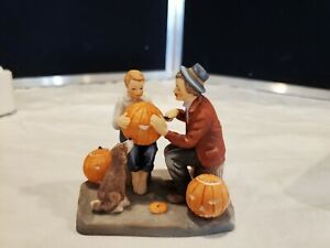 Gorham Norman Rockwell Ghostly Gourd #361/15,000 1984