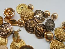 RETRO GROUP 43 GOLD METAL BUTTONS SEWING CRAFT