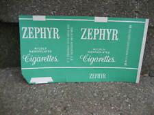 Vintage Zephyr Cigarette Tobacco Packaging Wrapper