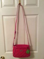 NEW VERA BRADLEY Fuschia Quilted Trimmed Trapeze Crossbody Bag Purse NWT  $88