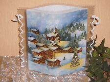 Tischlicht/Windlicht - Winterdorf - Weihnachten/Winter