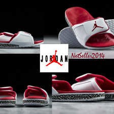 SZ 10 US UNIQUE 🆕🔥Jordan III Hydro Slide Retro Men's White/Fire Red 854556-116