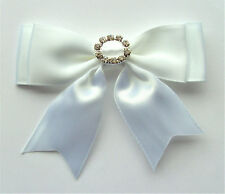 2 bouble RIBBON BOWS  (white ).