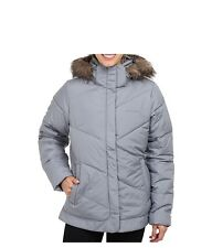 COLUMBIA Women Winter Hooded Jacket Coat M ski Gray New