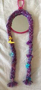 Purple Braided Mirror Hair Bow Holder for Girls, Hair Clips Organizer Storage