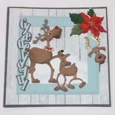 Deer Family Metal Cutting Dies Scrapbooking Stencils DIY Paper Card Craft Decor