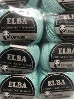 Lot of 10 Skeins ELBA by Ornaghi Filati Color/Shade 284 110yards 50g 100% Cotton