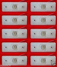 10 pcs 24V 4 LED FRONT WHITE CLEAR SIDE MARKER LIGHTS TRUCK LORRY BUS CAMPER VAN