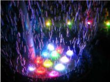 Aquarium Fish Tank Air Curtain Bubble Stone Disk with 6  Multi-color LED Light