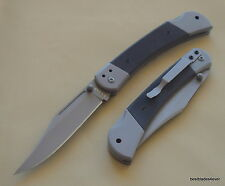 KA-BAR G10 HANDLE LOCKBACK HUNTER TACTICAL FOLDING POCKET KNIFE WITH POCKET CLIP