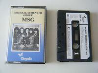 MICHAEL SCHENKER GROUP MSG CASSETTE TAPE ORIG 1981 PAPER LABEL CHRYSALIS UK