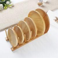 Neu Tellerständer Holz Geschirr Ständer Tellerhalter Brettchen