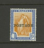Malta 5 Shilling George V UMM Mint Great Condition Old Collection