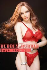 "1/6 Sexy Lace Bra Underwear Set RED For 12"" PHICEN Hot Toys Female Figure ☆USA☆"
