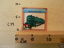 STICKER,DECAL TRAIN 1945 STATIONSRESTAURATIES ALTIJD DE MOEITE WAARD A