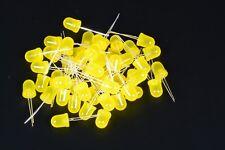 FOGGY 50 DIODI LED LEDS GIALLI 10mm YELLOW LUCE DIFFUSA DIFFUSED