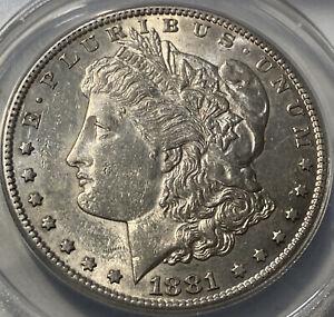 1881 S Morgan Silver Dollar - VAM 57 AU55 Details - ANACS!