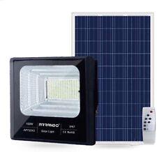 Faro Solare LED esterno con Pannello Faretto 100w crepuscolare Telecomando