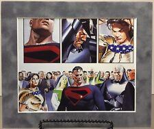 SUPERMAN / WONDER WOMAN By ALEX ROSS Pro Matted Print Kingdom Come Green Lantern