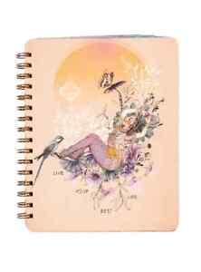 Papaya Art Live Your Best Life Spiral Journal Notebook - Gift for Teens & Grads
