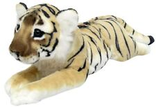 PLÜSCHTIER PLÜSCH TIGER BABY - braun - liegend - 50 cm Plüschtiger Stofftiger
