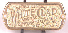 Brass White Clad Badge-Plate-Simmons Hardware-St Louis-Furniture Advertising-